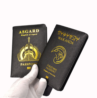 Passport Cover Harry Potter Marvel Pirates Travel Credit Card Case ID Holders