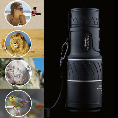 High Power 40X60 HD Monocular Telescope Shimmer Night Vision Outdoor Hiking US