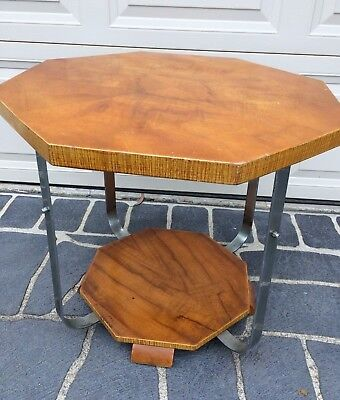Octangle - Chrome ART DECO Coffee Table / Side Table - Very Sturdy - Great Cond.