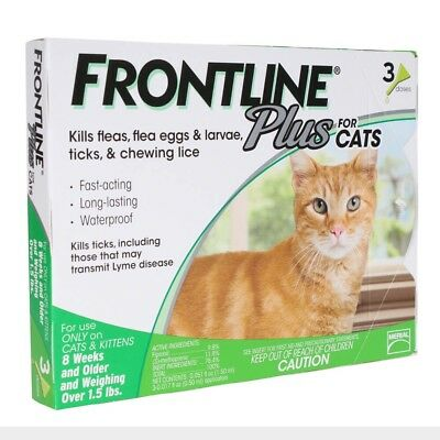 FRONTLINE Plus Flea Treatment For Cats Kittens by Merial (3 individual doses)