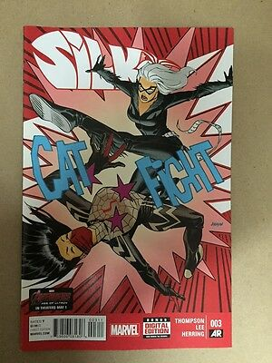 Silk #3 First Print Marvel Comics (2015) Cindy Moon Spider-Man Black Cat