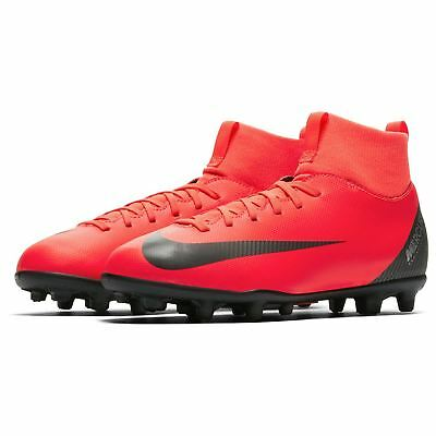a256bb2ecf3 Nike Mercurial Superfly Club CR7 FG Football Boots Juniors Red Blk Soccer  Cleats