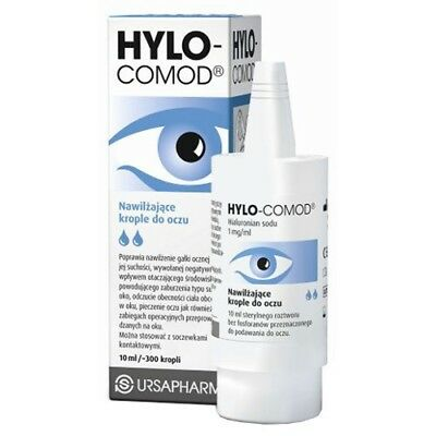 Ursapharm HYLO COMOD Lubricant Eye Drops 10ml with Sodium Hyaluronate (0.1%)