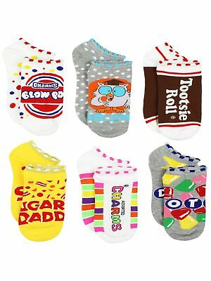 Topps Charms Candy Tootsie Roll Womens 6 pack Socks (Teen/Adult) RA001JNS
