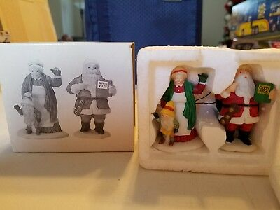 Dept 56 Heritage Village Mr. and Mrs. Santa Claus..Excellent pre-owned Condition