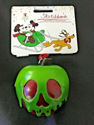Disney POISON APPLE Snow White Sketchbook Holiday Ornament Christmas NEW w/ TAG