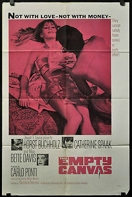 The Empty Toile 1963 Original 27X41 Affiche Film Bette Davis Horst Buchholz