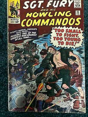 Sgt. Fury and his Howling Commandos - # 15 - Too Young to Die! - 1964