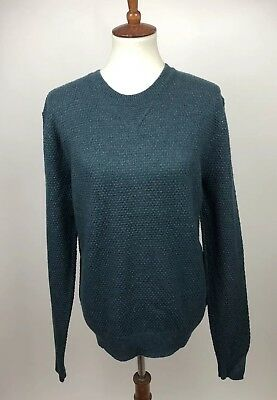 751a1ccf055af1 Gap Men s Size L Lambswool Blend Crew Neck Knit Pullover Sweater Hunter  Green