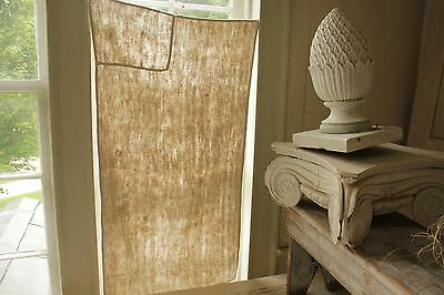 Antique French PURE linen soft monogram hand / kitchen towel 18th century OLD