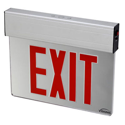 Visionis VIS-ESRGL - Acrylic Face Red Exit Sign Light LED - 6 Inch - UL924