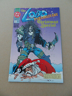 Lobo Paramilitary Christmas Special 1 . One Shot . S.Bisley .DC 1991 .VF - minus
