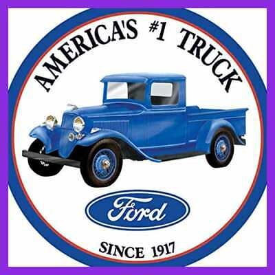 Ford Trucks Tin Sign 12 X 12In HOME DECOR BLUE