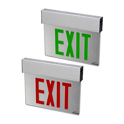 Visionis Pack Acrylic Exit Sign Light LED  - VIS-ESGGL Green and VIS-ESRGL Red