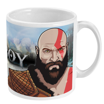 Dad of Boy (God of War) Kratos 11oz Mug Video Games Gift Idea TV PS4 Gamers Xmas