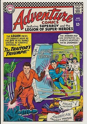 Adventure Comics #347 DC 1966 Superboy, Karate Kid, Traitor's Triumph
