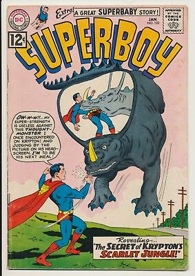 Superboy #102 DC Comics 1963 Scarlet Jungle