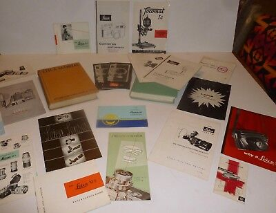 Large Lot Vintage LEICA Manuals, Brochures, and Books.  Original & Good to Fine!