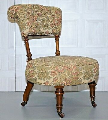 Antique Victorian Cornelius V Smith C.v.s Stamped Nursing Reading Chair