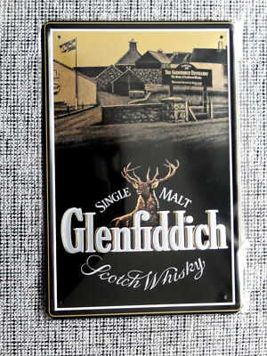 Blechschild, 20x30 cm, Glenfiddich, scotch whisky, single malt, Alkohol,Neu,OVP