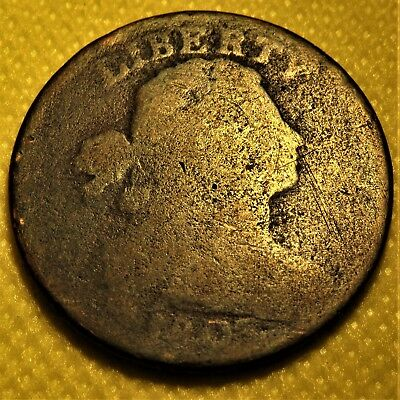 1803 Draped Bust Large Cent - With Stems. Readable date and fraction!