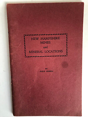 New Hampshire Mines and Mineral Locations PHILIP MORRILL where to find gems MAPS