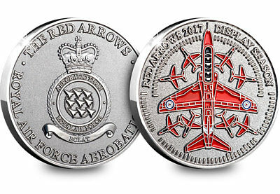 Royal Air Force RAF Red Arrows 2017 Display Season Commemorative Medal Coin