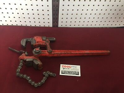 "Ridgid Super Two - 2"" Compound Leverage Chain Pipe Wrench USA!!"