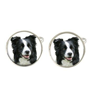 Border Collie Dog Mens Cufflinks Ideal Birthday Fathers Day Gifts C26