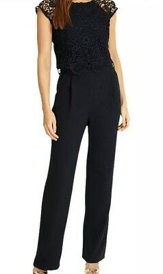 c9d2fcfb1f2 PHASE EIGHT CORTINE Lace Jumpsuit UK Size 12 -  19.14