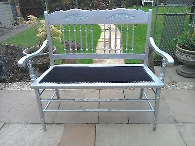 Antique reproduction Edwardian style 2 seater bench