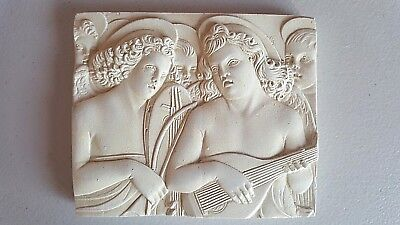 ANGEL MUSICIANS Wall Plaque by Master of San Trovaso Venice hand cast plaster