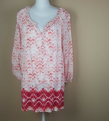 62aa83b71f94d SONOMA GREEN WOMEN S plus size paisley print tie up short sleeve top ...