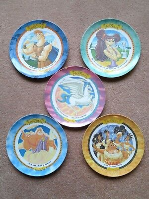 McDonalds 1997 Disney's HERCULES Collector Plates Lot of 5 Plastic, Used VG Cond