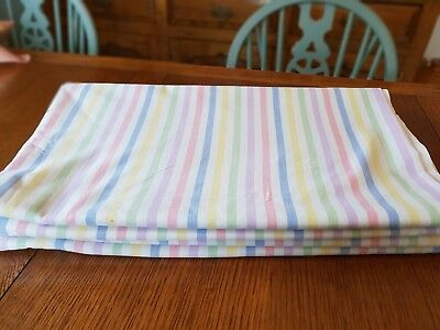 Vintage Brushed Cotton Candy Stripe Double Sheets x 2