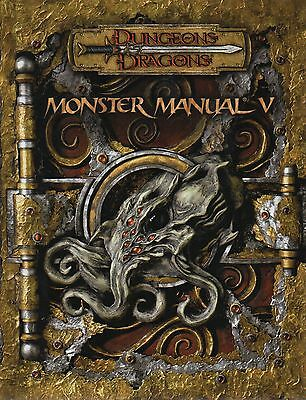 Dungeons & Dragons-D&D-MONSTER MANUAL V (5)-RPG-Rolplaying Game-(HC)-new-rare