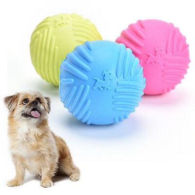 Dog Pet Puppy Fetch Chew Toy Durable Rubber Ball Fit Launcher Training Af