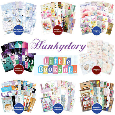 Hunkydory Little Books Sample Packs Various Designs 24/25/36 Sheets - Cardmaking