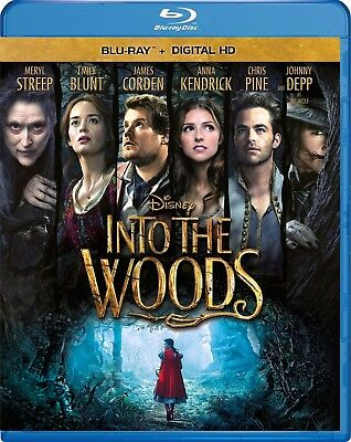☆ INTO the WOODS (Blu Ray) ☆ 1 DISC~EMILY BLUNT✔