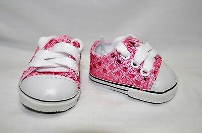"""Our Generation American Girl Doll 18"""" Dolls Clothes Shoes Pink Sequin Sneakers"""