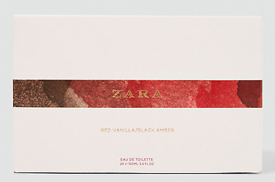 Zara Women Red Vanilla & Black Amber Set Eau De Toiltette Spray Fragrance