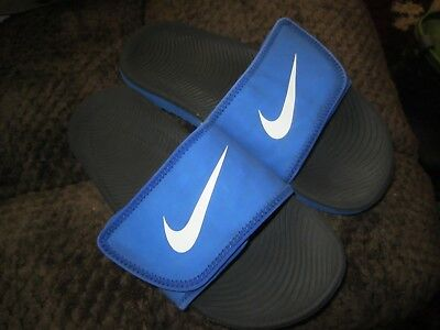 2ef87dc1ab5c3 Boy s Unisex Youth Nike Kawa Adjust Slides Sandals Shoes 819344 401 Sz 5Y