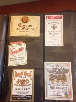 Vintage Labels Album alcohol ad Collection Cola Cheese Whiskey Must See Lot 250+