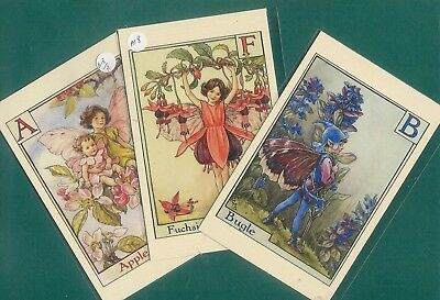 A18 Three high quality postcards of Cicely Mary Barker's Flower Fairies A B F