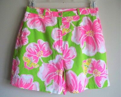 LILLY PULITZER Shorts Floral Unlined Multi Color Womens Size 10