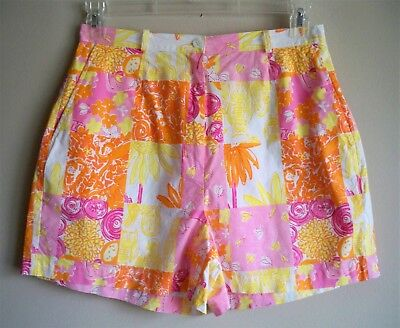 LILLY PULITZER Shorts Patchwork Unlined Multi Color Womens Size 10