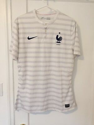 2014 Authentic France Soccer Jersey Nike Large World Cup Rivière Player  Issue 03a0fdae0