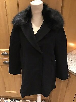 Seraphine Maternity Black Wool Coat Size Medium