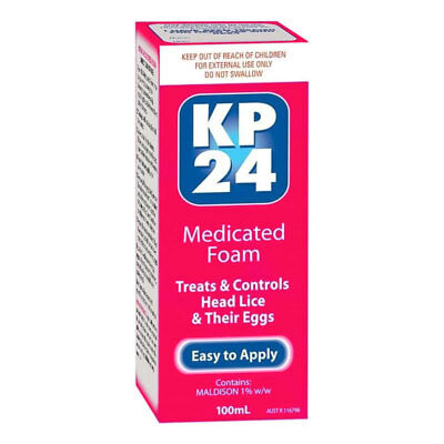 Kp24 Medicated Foam 100Ml Treats & Controls Head Lice & Their Eggs Easy To Apply