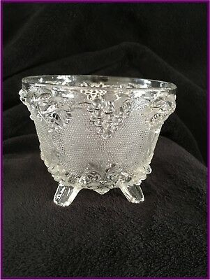 Vintage Jeanette Clear Depression Glass: Footed Candy Dish (No Lid)